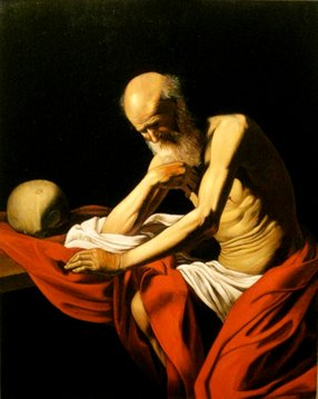 St. Gerome, after Caravaggio